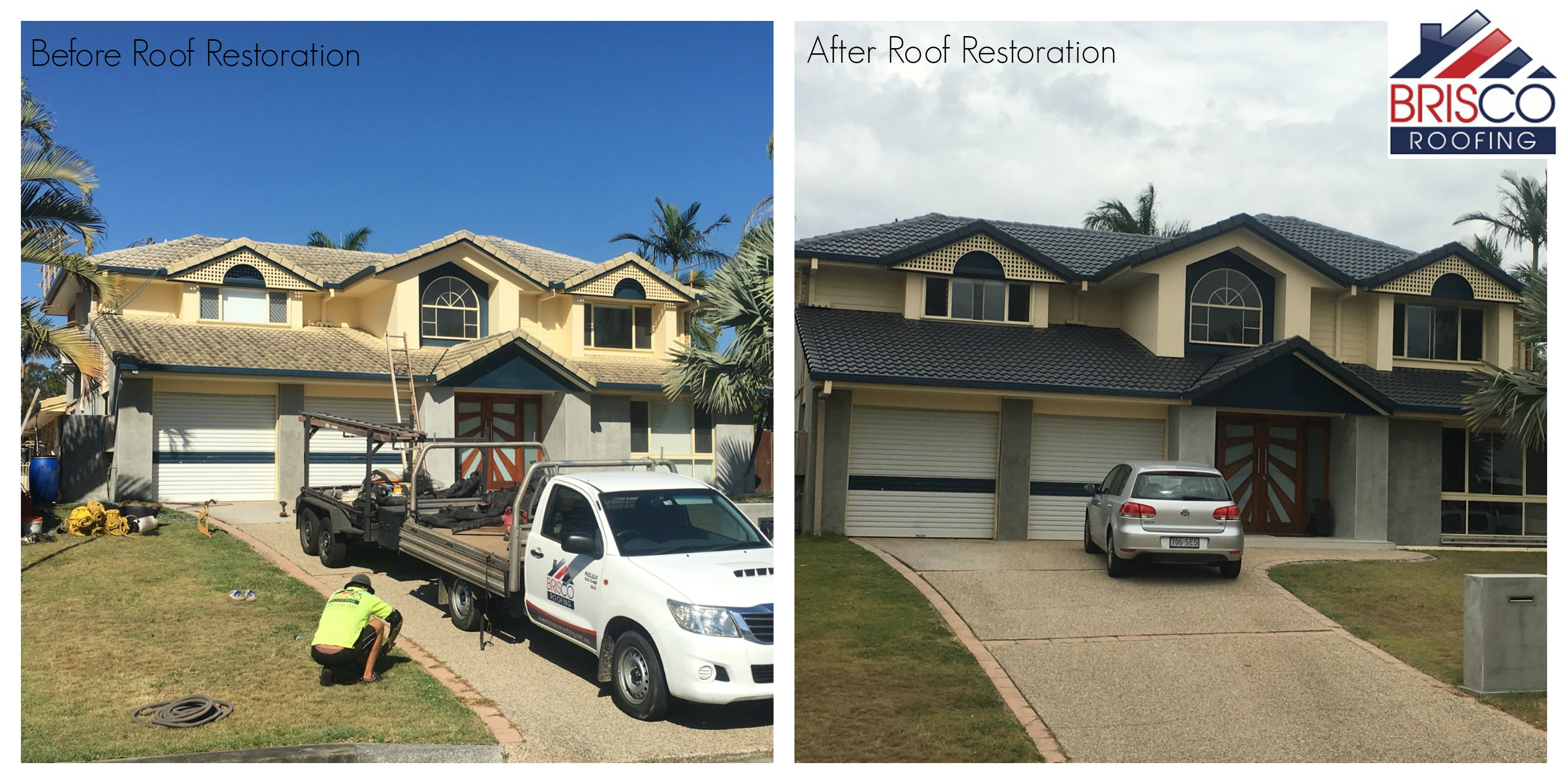Before And After Roof Painting Charcoal