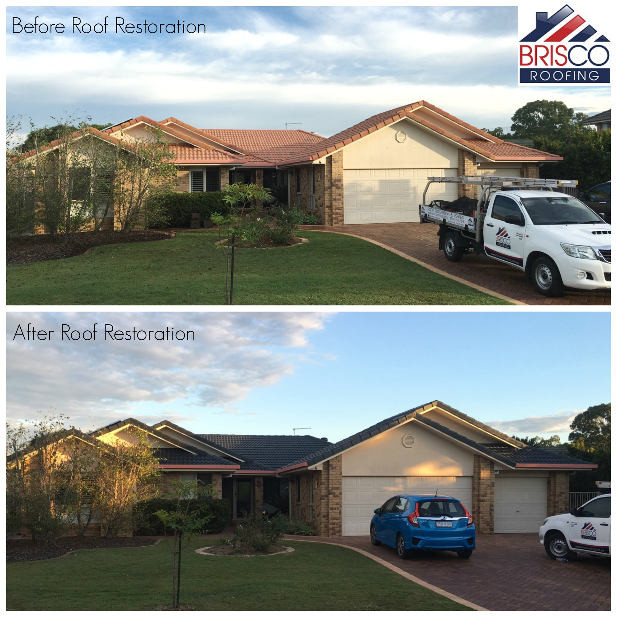 Roof Restoration Before and After Brisbane