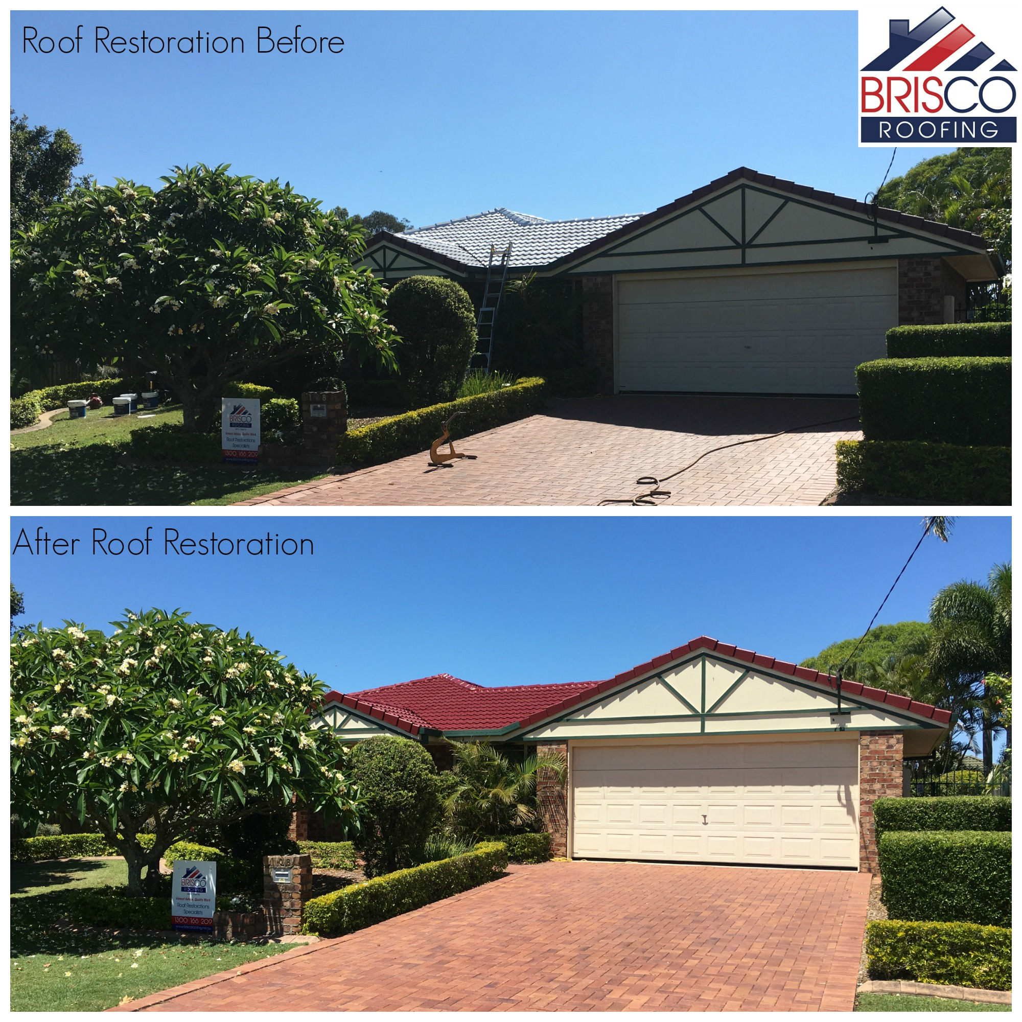 Roof Restoration Before and After Gallery Brisbane 4