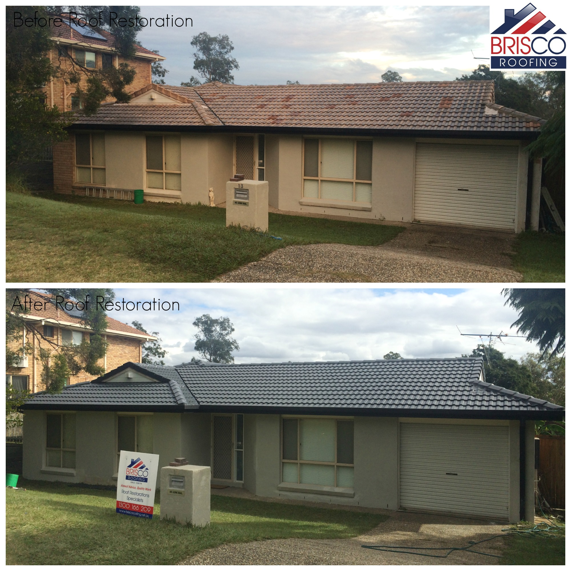Roof Restoration Before and After Gallery Brisbane 5