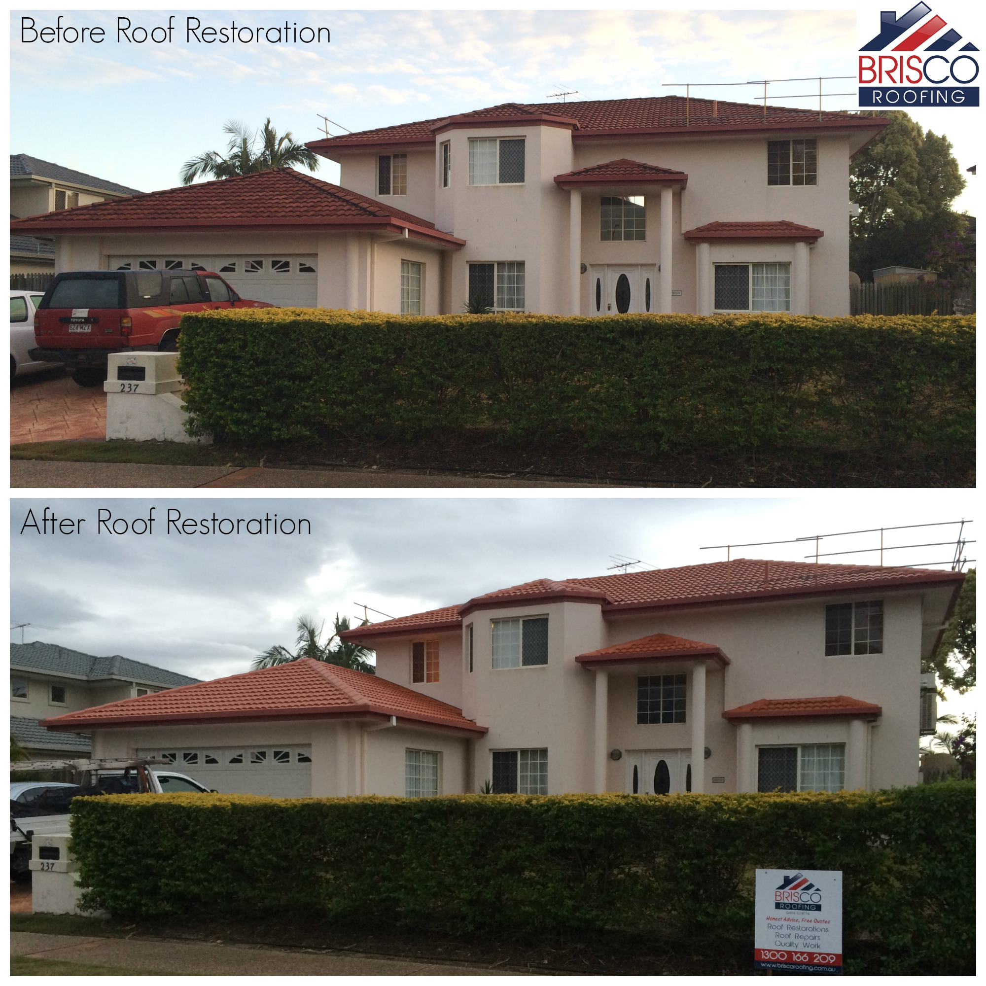 Roof Restoration Before and After Gallery Brisbane 6