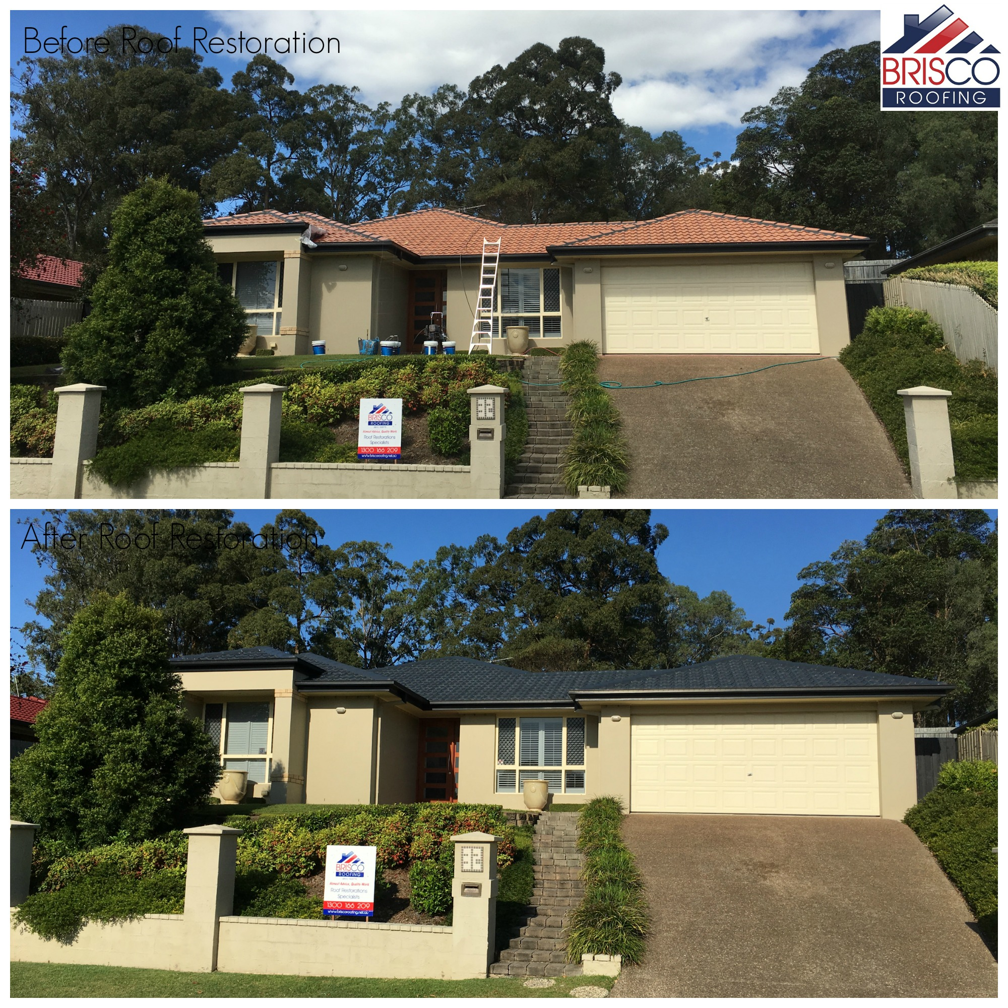 Tiled Roof Restoration Gallery Brisbane Brisco Roofing