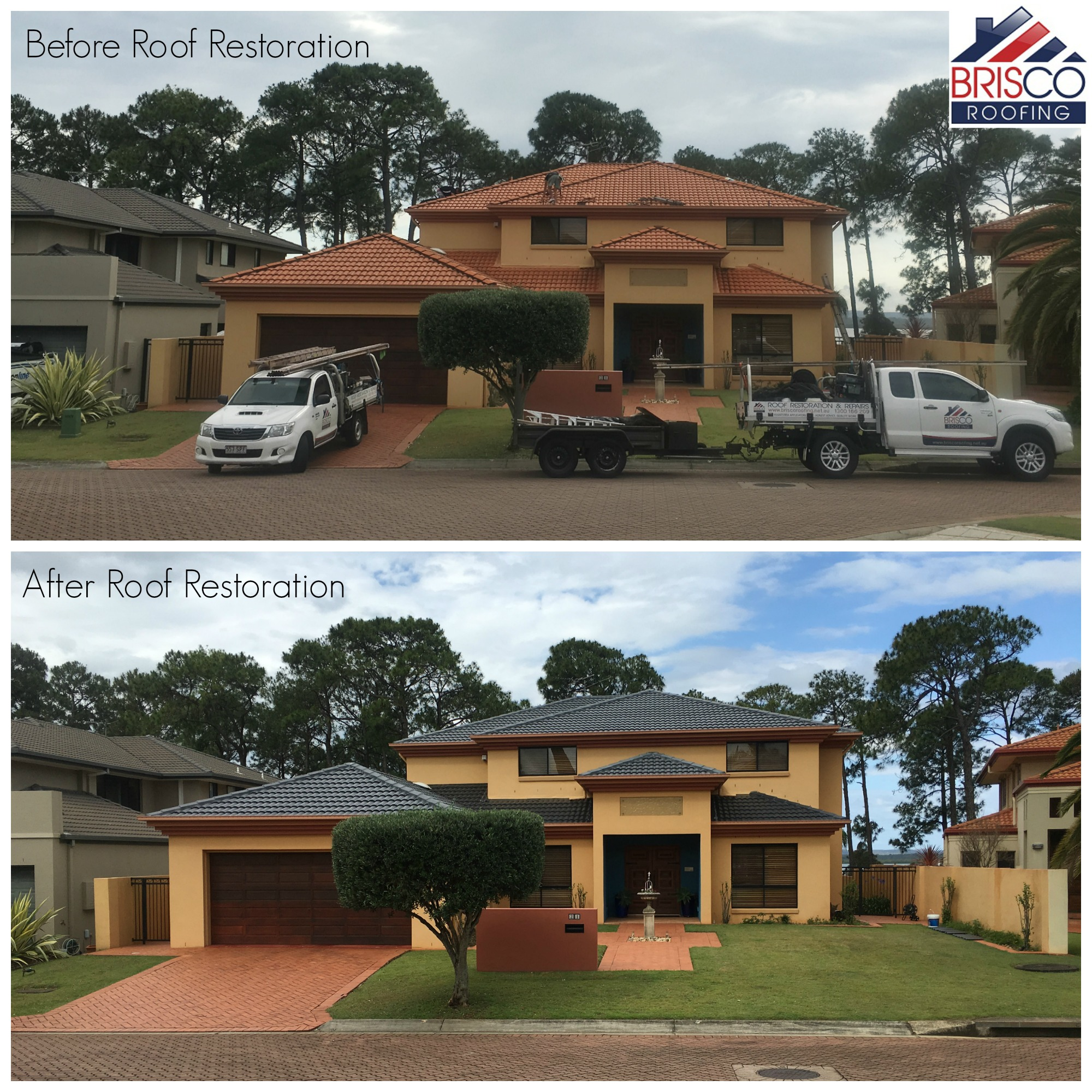 Roof Restoration Before and After Gallery Brisbane 9