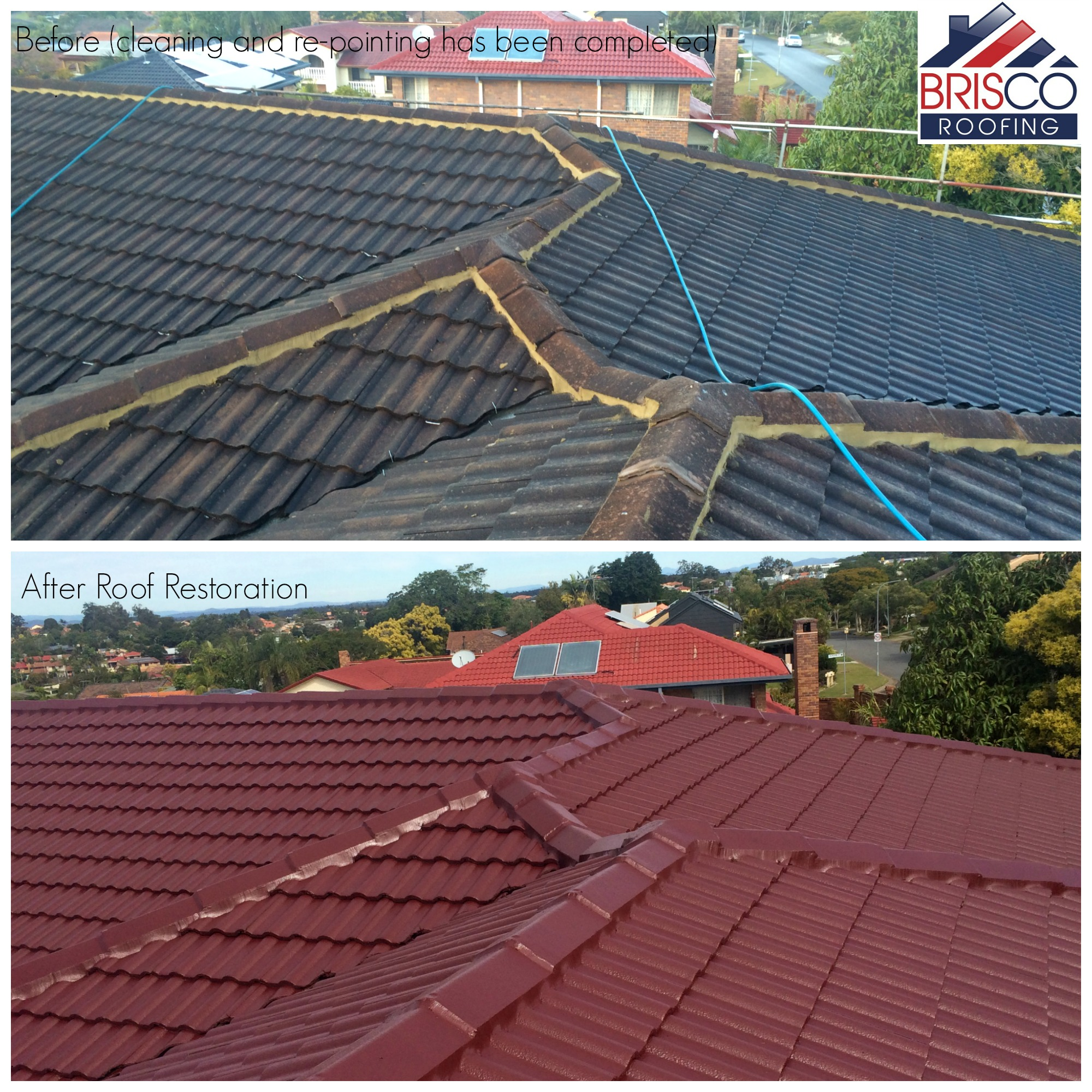 after cleaning and repointing roof restoration