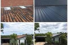 Before and After roof restoration Charcoal Loganholme