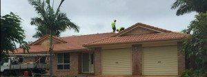 Inspect for broken tiles Roof restoration brisbane roof repair roofing painting