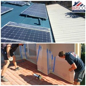 Masking Roof restoration brisbane roof repair roofing painting