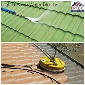 Waterblasting Roof restoration brisbane roof repair roofing painting