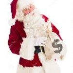 santa money bag