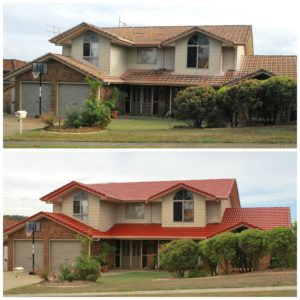 Roof Restoration Before and After Carindale Brisbane