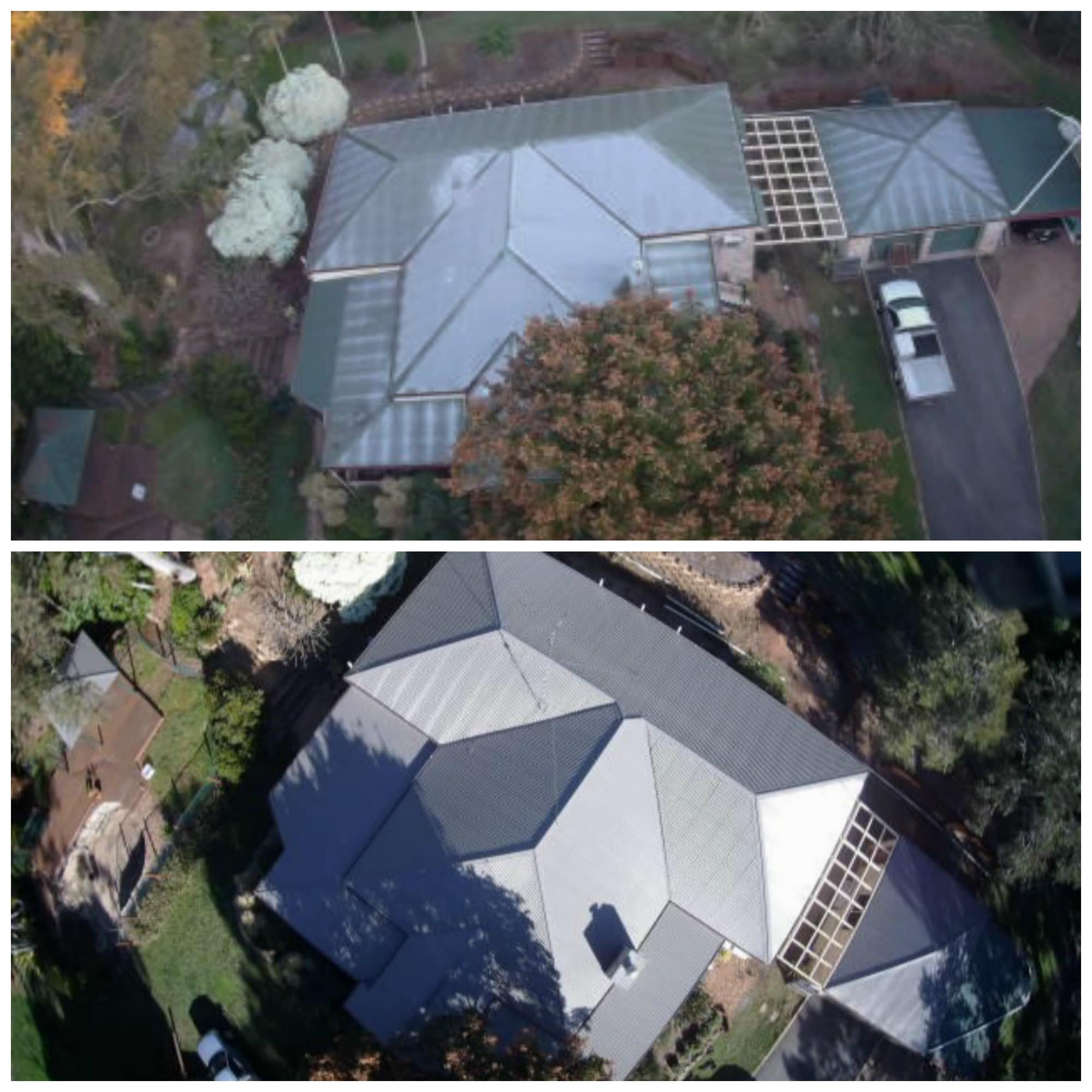 Metal roof restorations painting